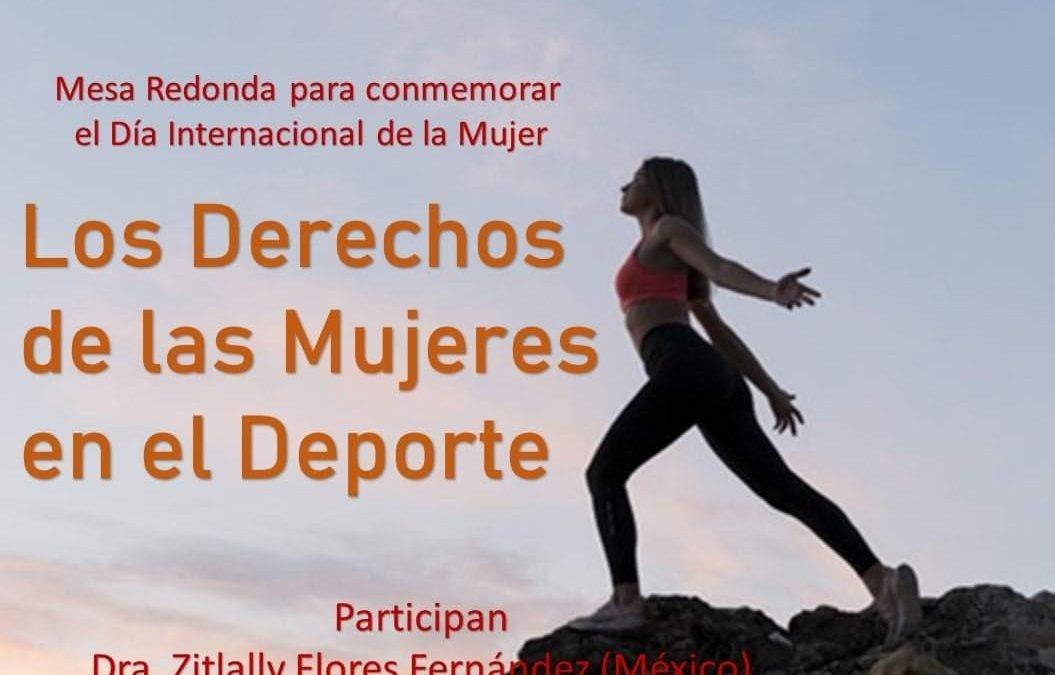 """La RIIDGD coauspicia Mesa Redonda """"Los derechos de las mujeres en el deporte"""" (MEX)"""