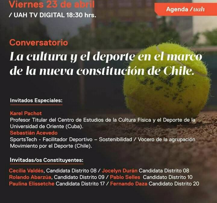Participa Coordinador RIIDGD en Conversatorio sobre el deporte en la nueva Constitucion chilena